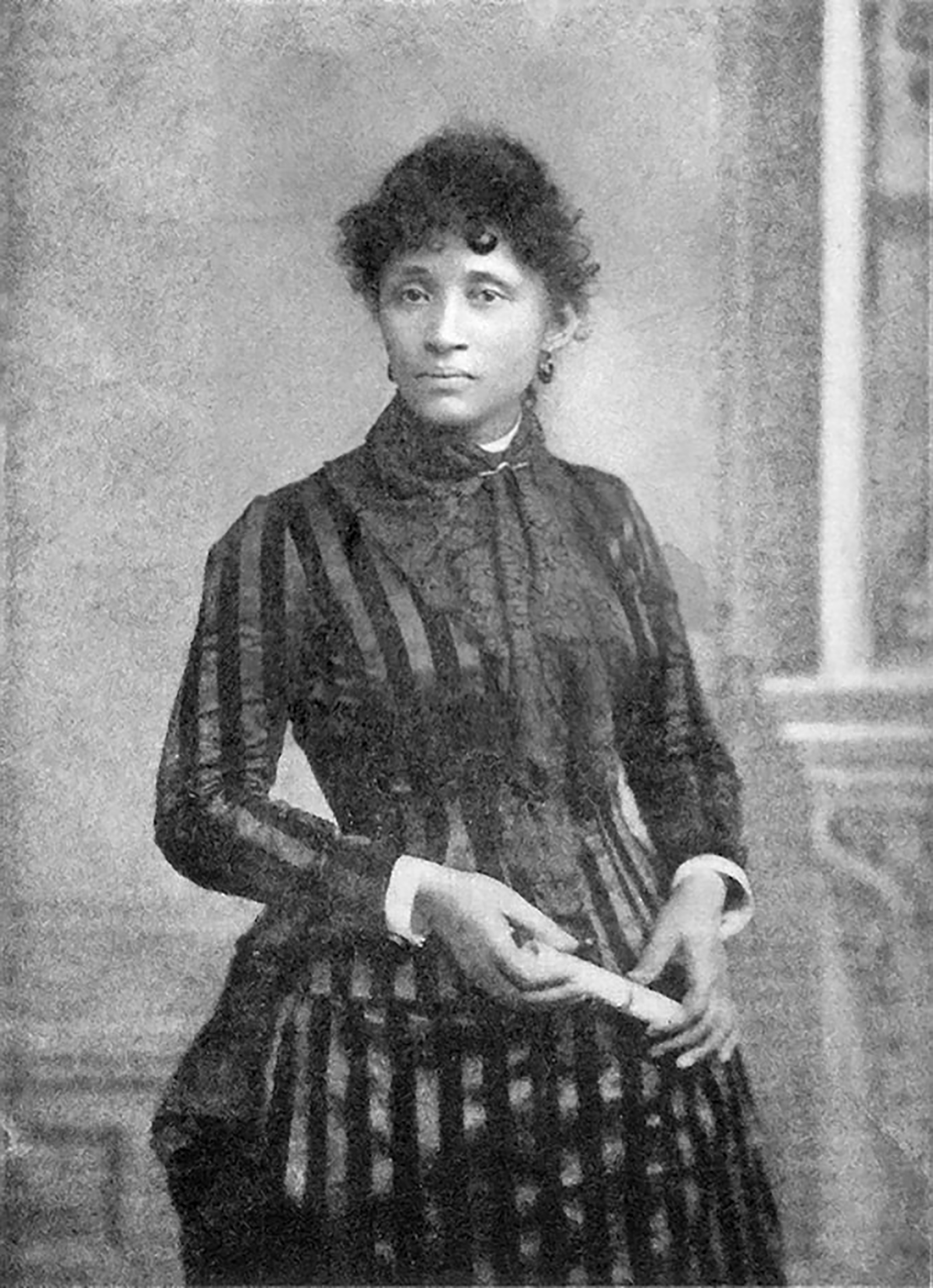 Black-and-white photo of activist and IWW member Lucy Parsons