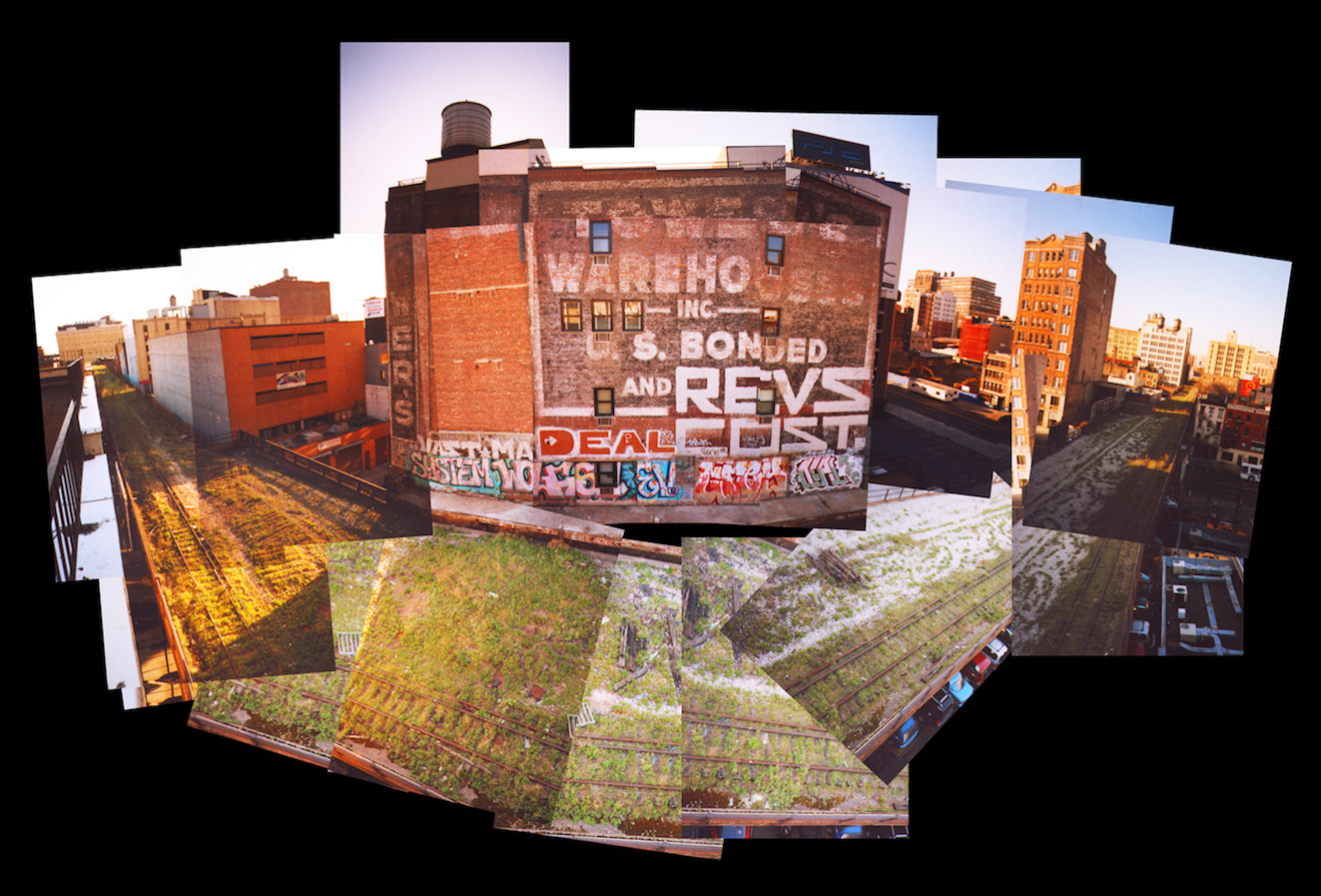 A collage of photos of buildings